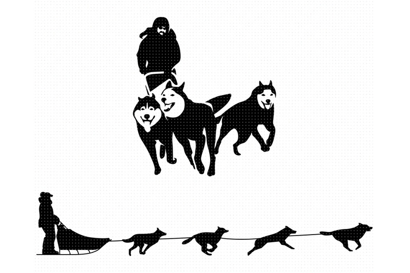 dog-sled-svg-png-dxf-clipart-eps-vector-cut-file