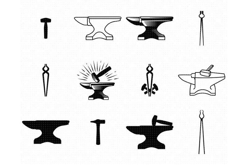 anvil-svg-blacksmith-png-tongs-dxf-hammer-clipart-eps-vector