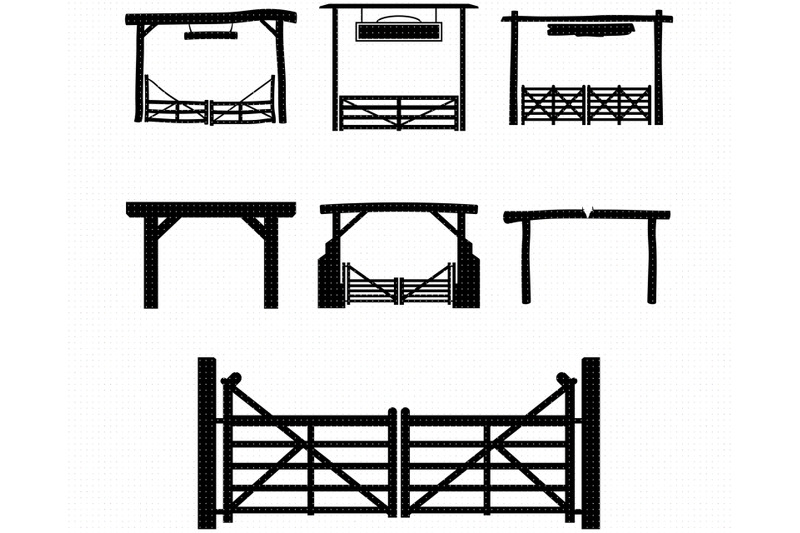 ranch-gate-svg-farm-entrance-png-wooden-gate-dxf-clipart-eps