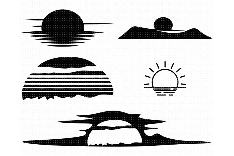 sunset-svg-sunrise-png-sun-dxf-clipart-eps-vector