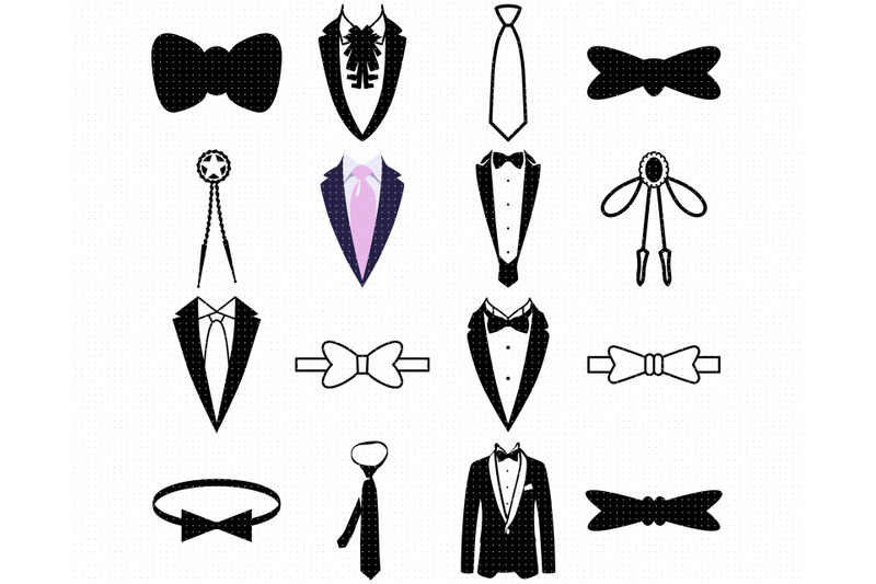 tuxedo-svg-neck-tie-png-ribbon-dxf-clipart-eps-vector