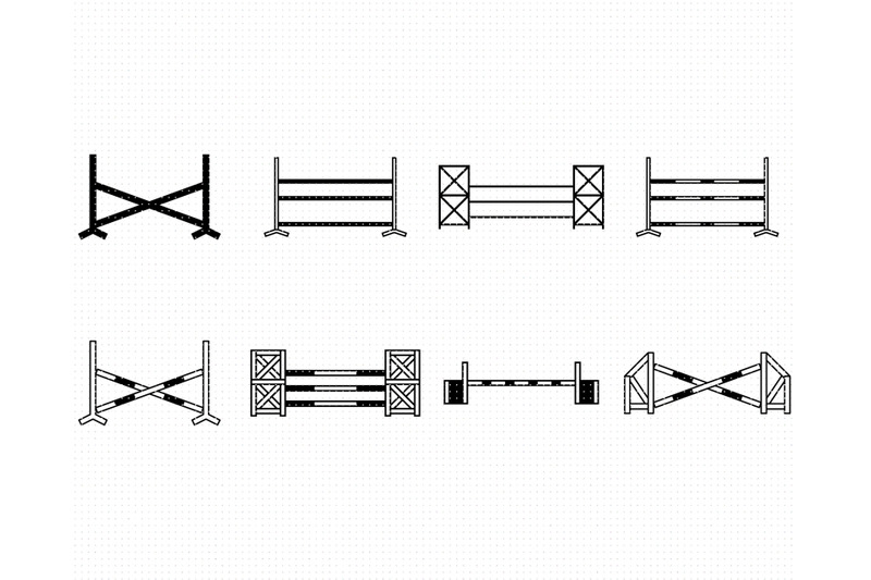 show-jump-svg-equestrian-png-poles-dxf-timber-clipart-eps-vector