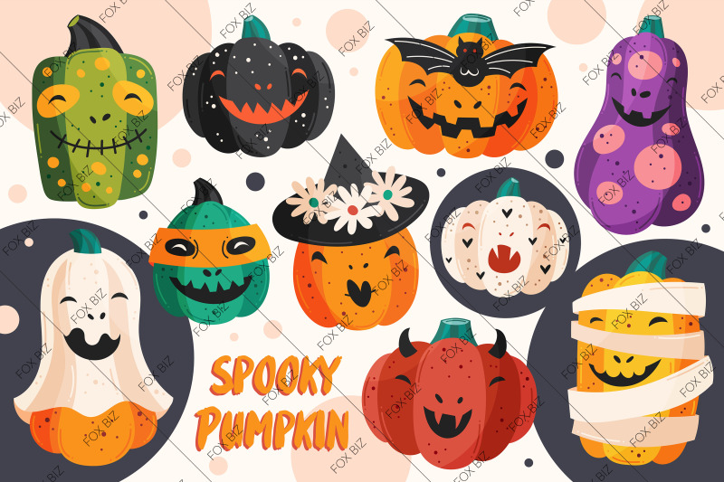 spooky-pumpkins-with-funny-faces-png-jpeg-eps-vector