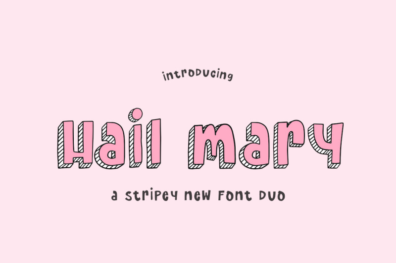 hail-mary-font-duo