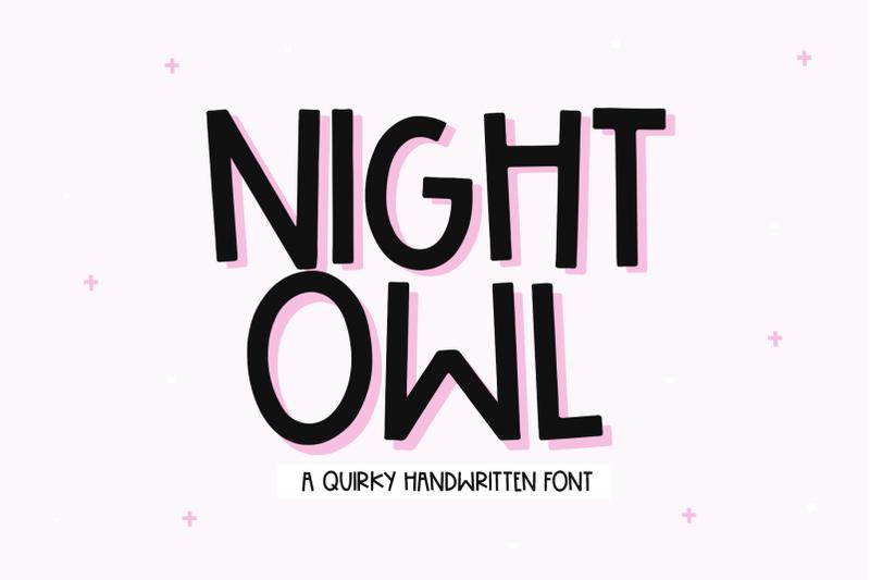 night-owl-fun-handwritten-font