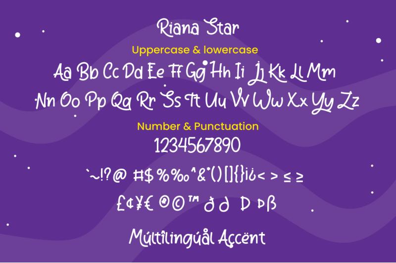 riana-star-display-font