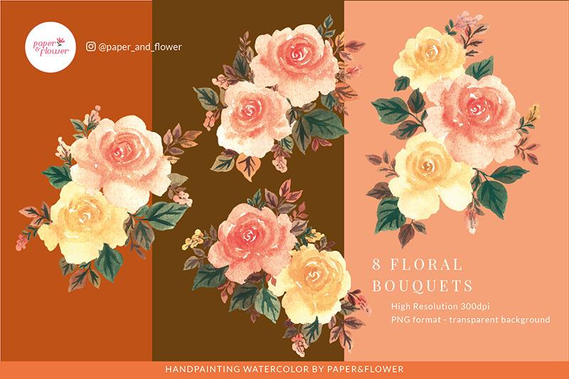 blissful-autumn-wedding-templates-amp-floral-bouquet-set