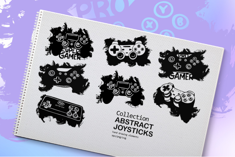 collection-quot-abstract-joysticks-quot