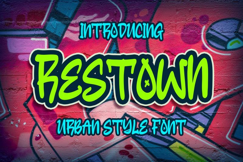 restown-urban-style-font