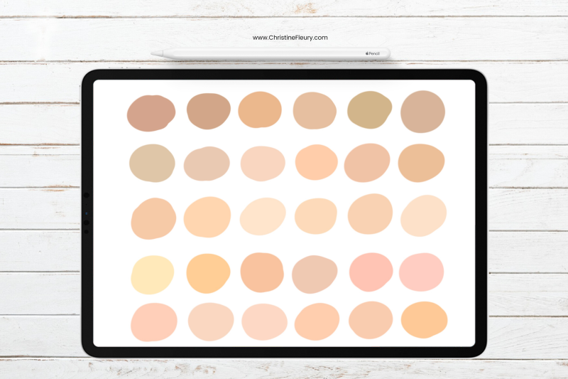 fair-skin-tones-procreate-color-palette