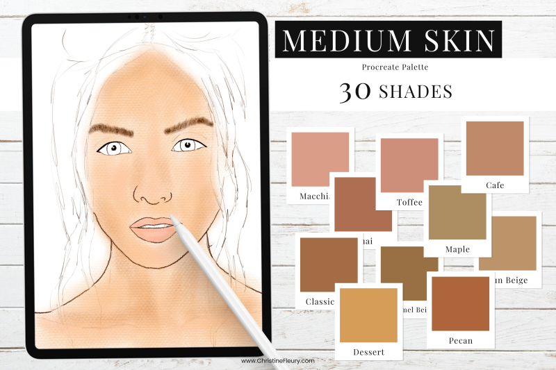 medium-skin-tones-procreate-color-palette