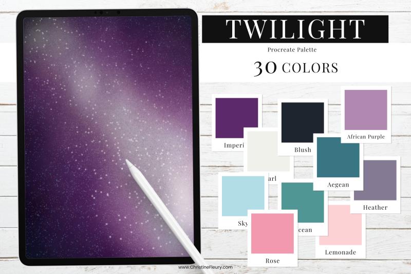 twilight-procreate-color-palette