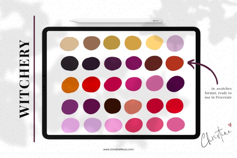 witchery-procreate-color-palette