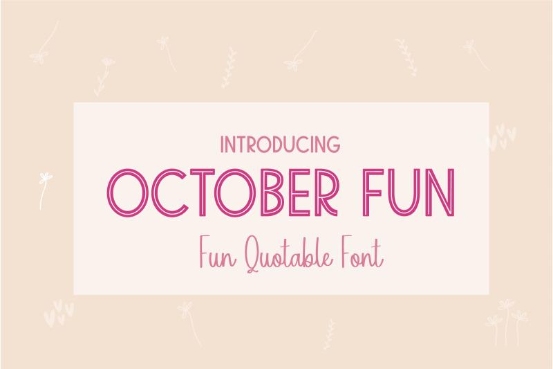 october-fun
