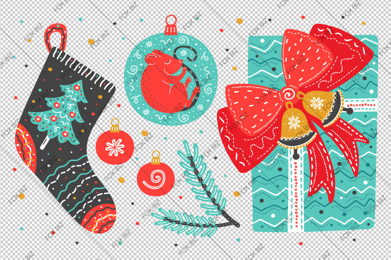 christmas-clip-art-new-year-illustrations-svg-dxf-png