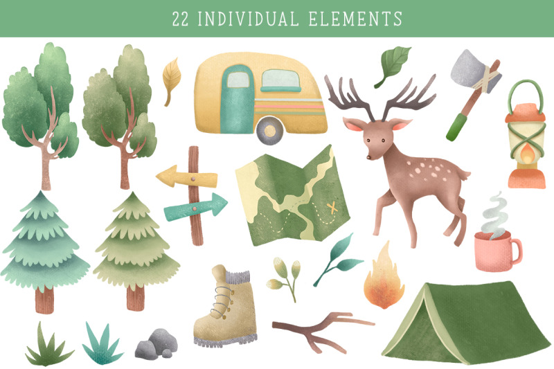 wild-and-free-camper-clipart-pack