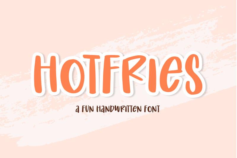 hotfries-a-fun-handwritten-font