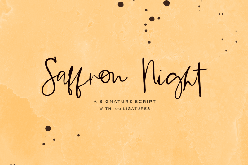 saffron-night-signature-script
