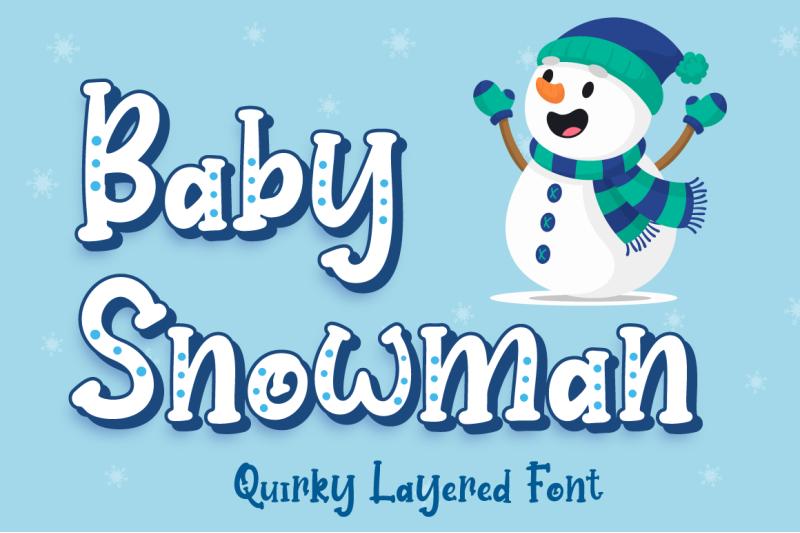 baby-snowman-christmas-font