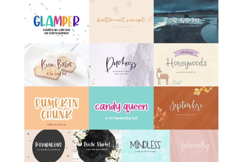 hand-lettered-font-bundle