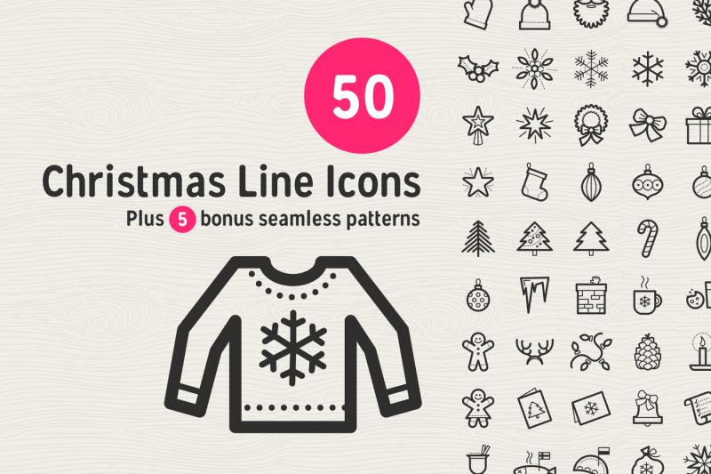 50-christmas-line-icons
