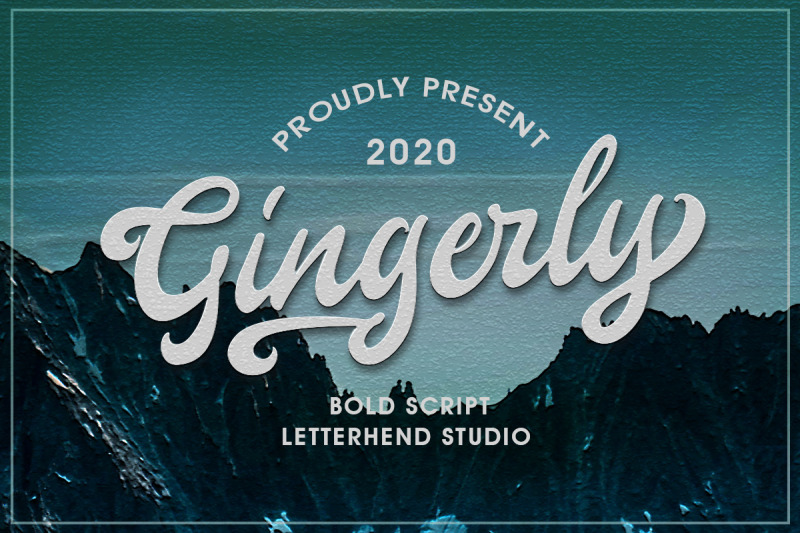 gingerly-bold-script-typeface