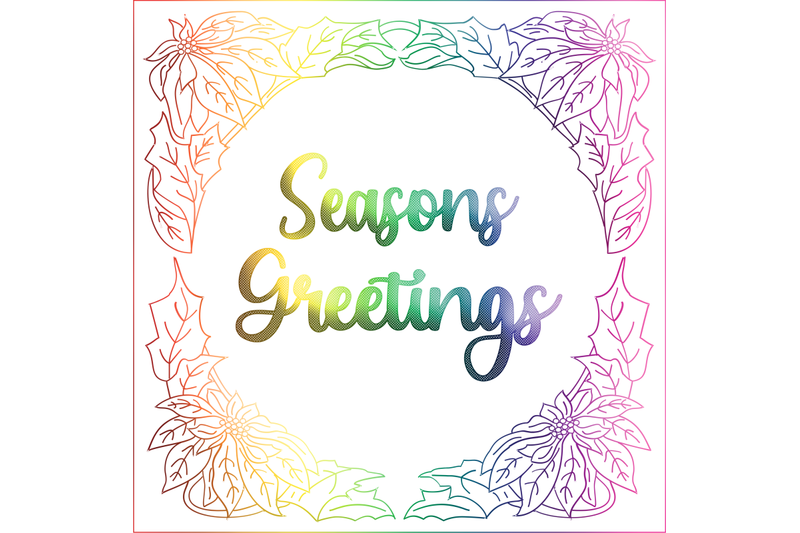 single-line-foil-quill-sketch-pen-christmas-seasons-greeting