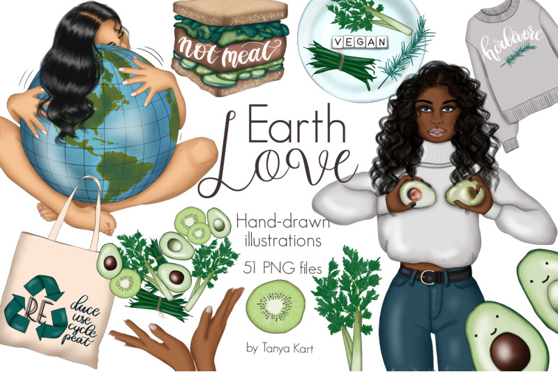 earth-love-clipart-amp-pattern