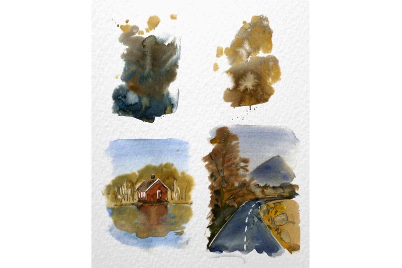 autumn-landscape-watercolor-clipart