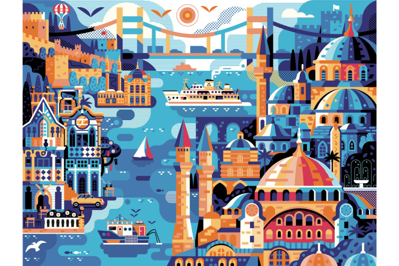istanbul-horizontal-travel-poster