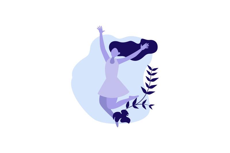 flat-illustration-happy-woman
