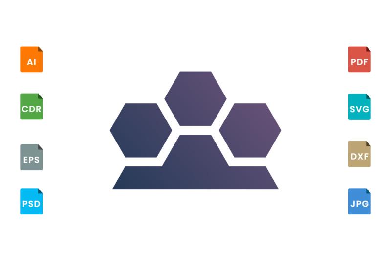 hexagon-logo-design-in-an-arranged-abstract-form