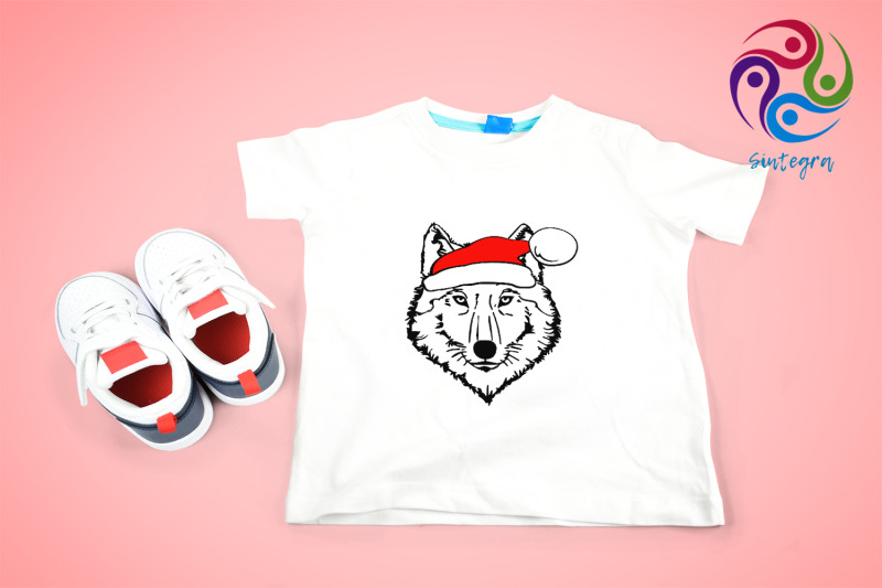 wolf-with-santa-hat-svg-file