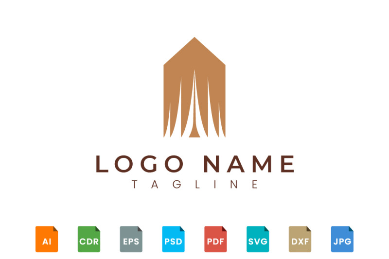 elegant-and-fashionable-tent-style-logo-design