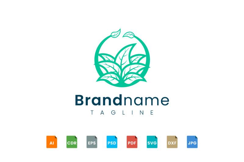 logo-design-leaf-various-abstract-shape