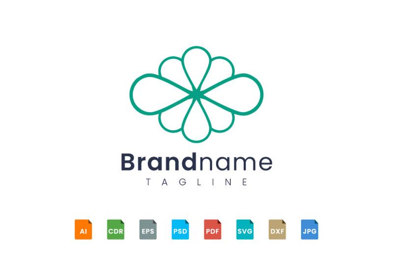 line-art-flower-logo-design