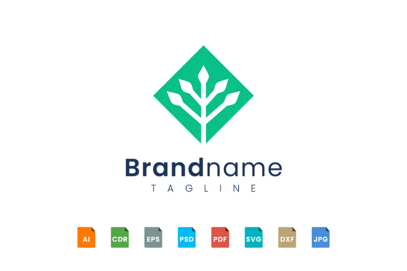 geometry-plant-logo-template