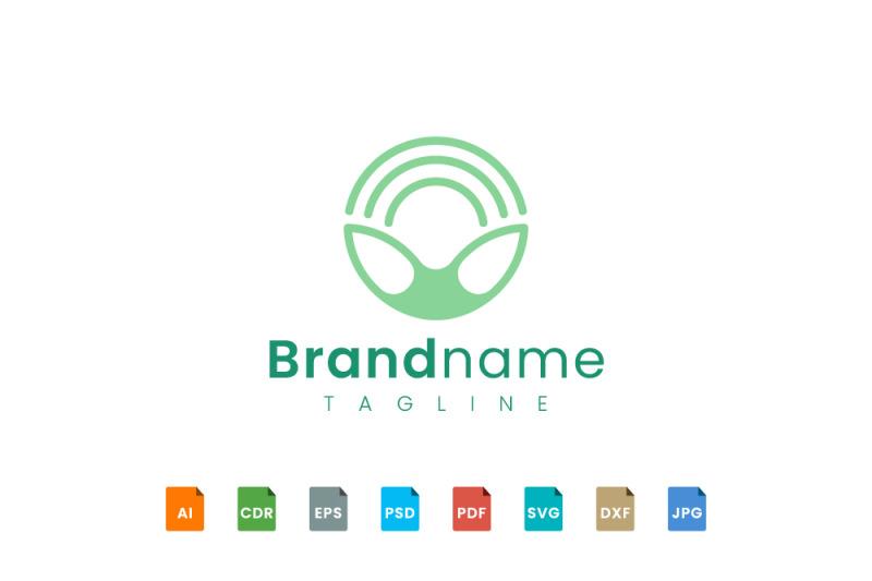 circular-animal-ear-logo-template