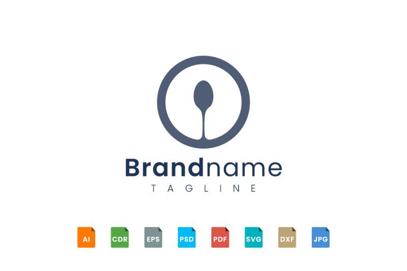 circle-spoon-logo-template