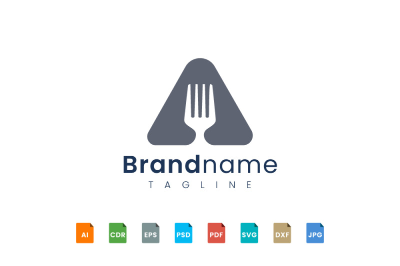 triangle-fork-logo-template