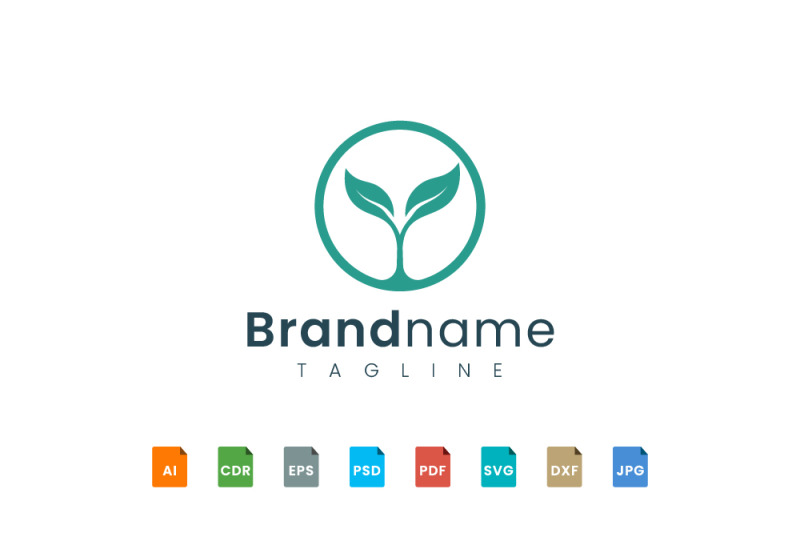 circle-leaf-logo-template