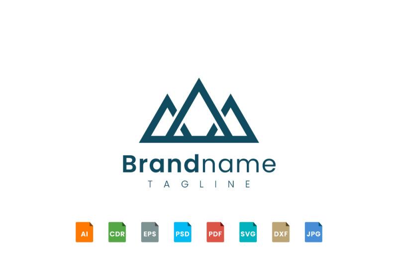 triangle-mountain-logo-template