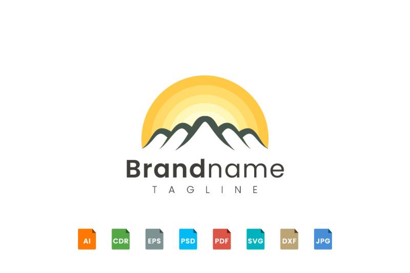 mountain-logo-template-with-sun