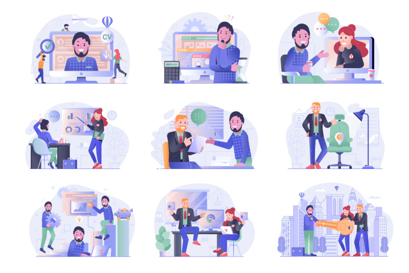 job-search-and-apply-web-illustrations