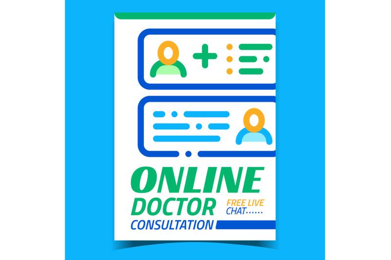 online-doctor-consultation-advertise-banner-vector