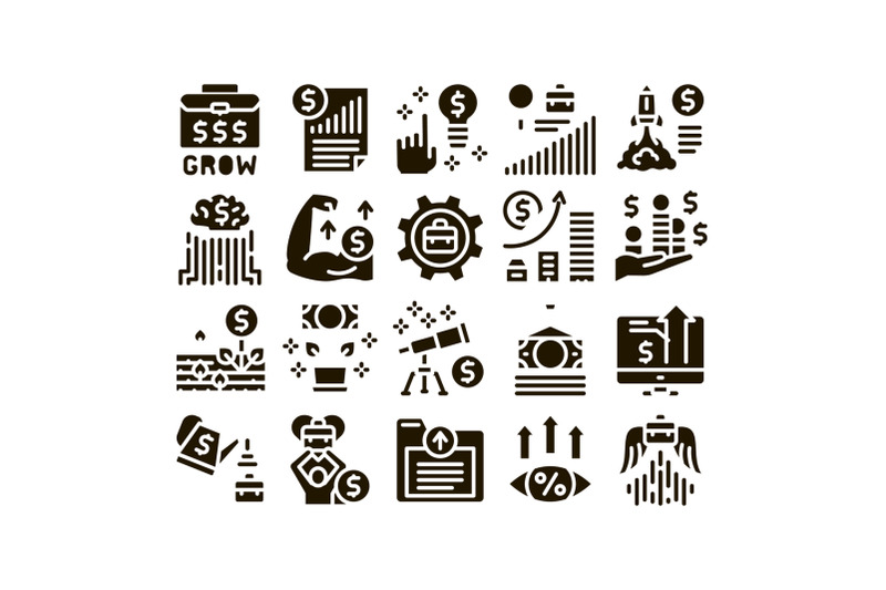 business-growth-and-management-icons-set-vector