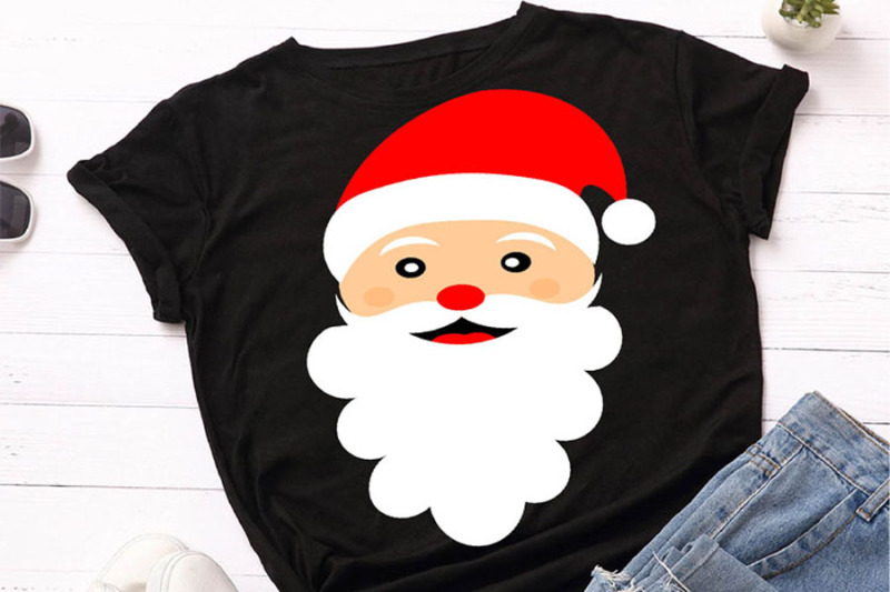 cool-santa-claus-christmas-t-shirt-design-svg