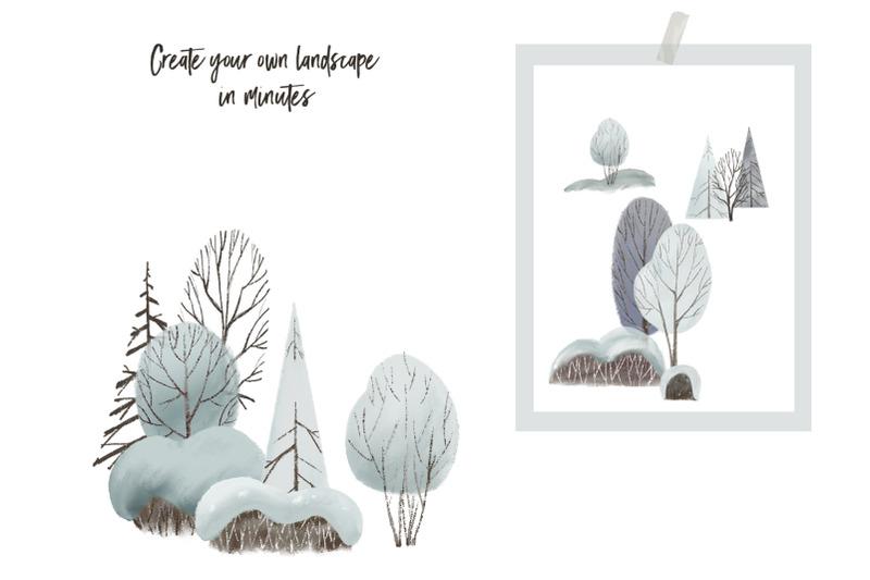 mountains-amp-winter-landscape-clipart