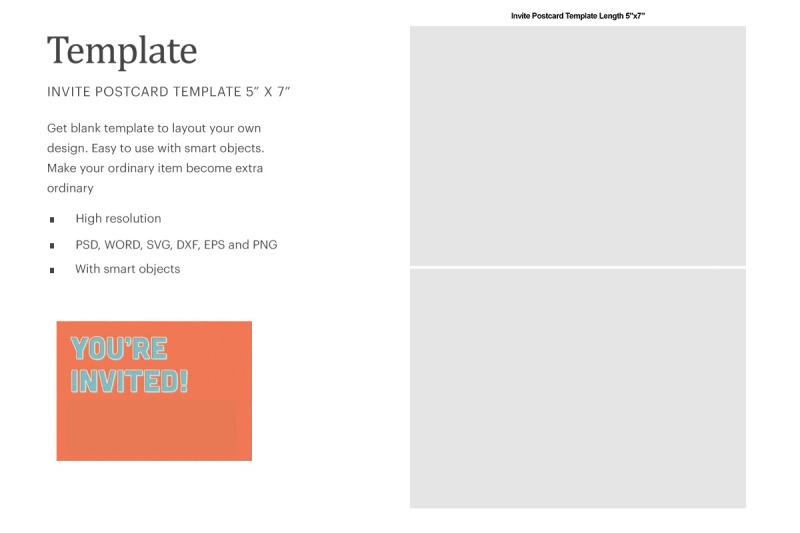 Download Invite Postcard Blank Template   Silhouette Studio   Cricut Silhouette Free Mockups