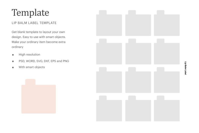 Download Lip Balm Blank Label | Silhouette Studio | Cricut Silhouette Free Mockups